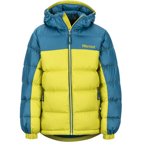 Marmot Guides Down Hoody Boys citronelle/moroccan blue